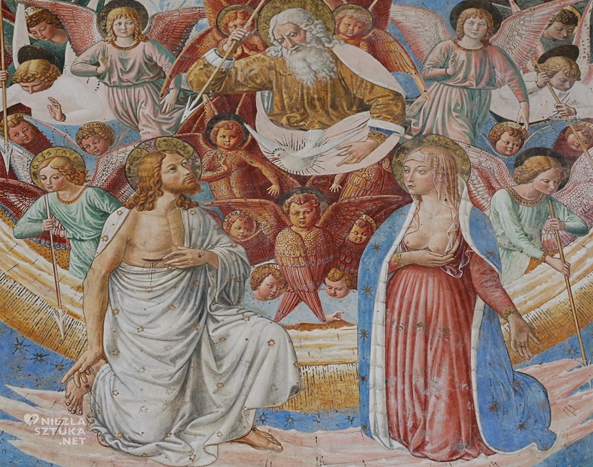 Benozzo Gozzoli, Święty Sebastian, fresk, święci w sztuce, sztuka włoska, Niezła Sztuka