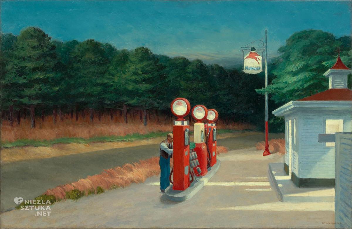 Edward Hopper, Gas, Stacja benzynowa, Niezła sztuka