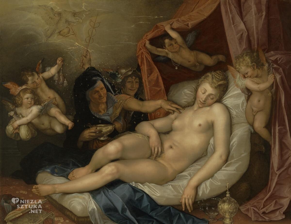 Hendrik Goltizius, Danae, sztuka holenderska, akt, Niezła Sztuka