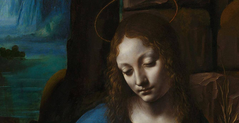 Leonardo da Vinci, Madonna wśród skał, Madonna w grocie, sztuka włoska, malarstwo włoskie, Niezła sztuka
