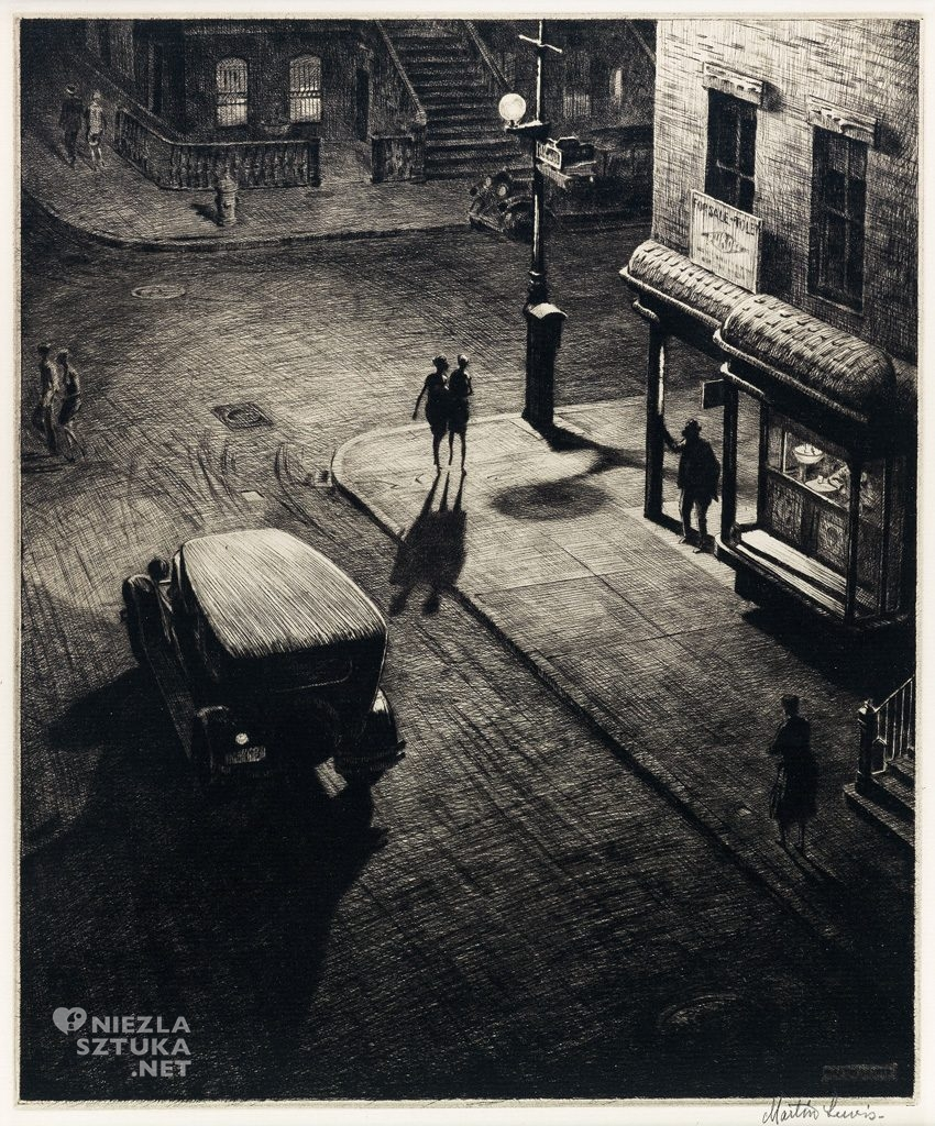 Martin Lewis Relics, Speakeasy Corner drypoint, Niezła sztuka