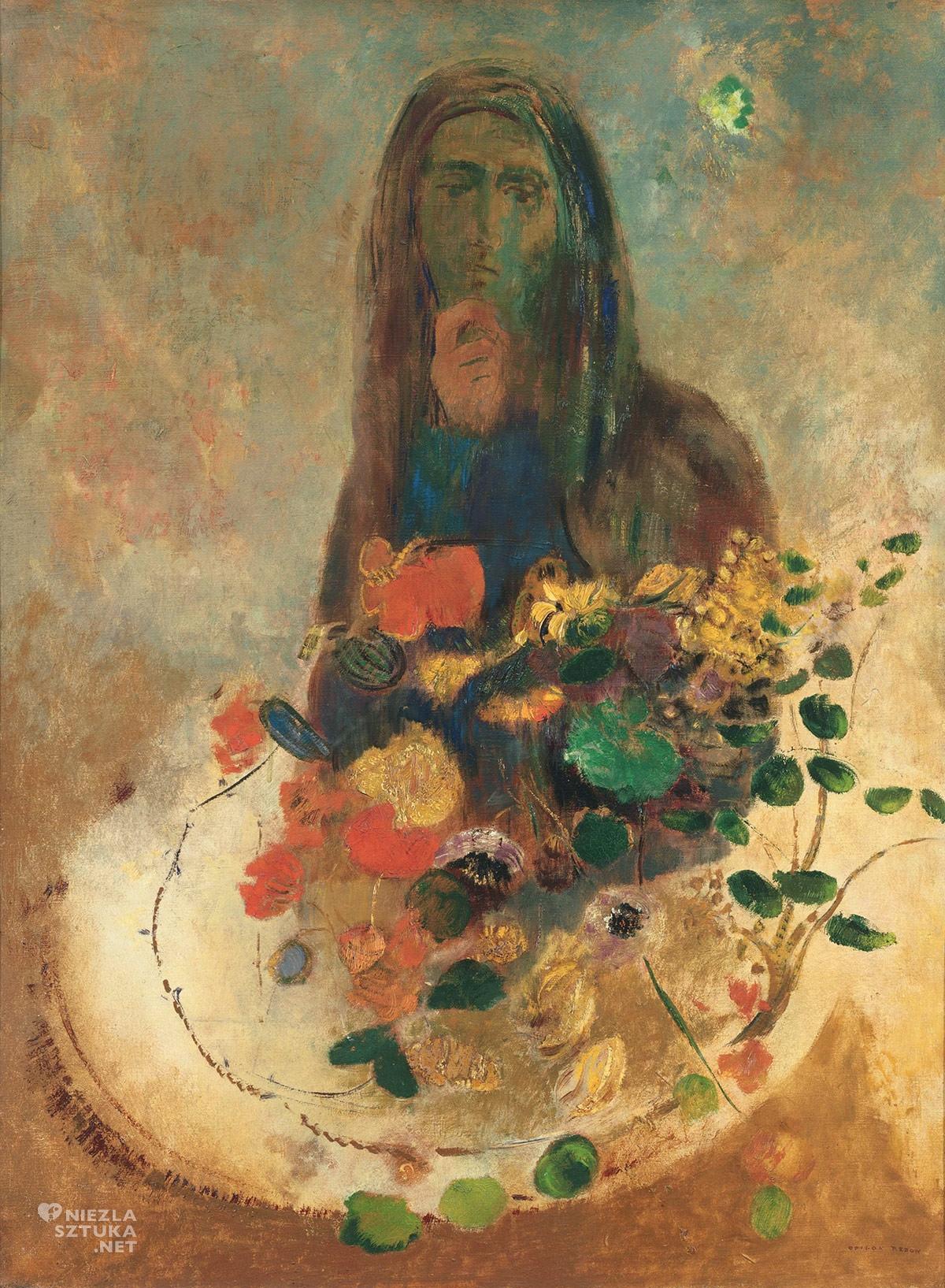 Odilon Redon, Tajemnica, malarstwo europejskie, symbolizm, Niezła Sztuka