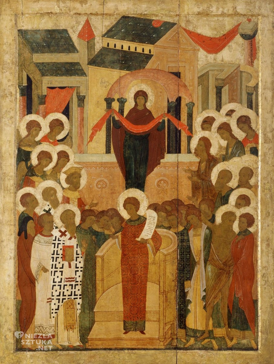 Ikona, Pokrow, Matka Boska, sztuka religijna, Niezła Sztuka