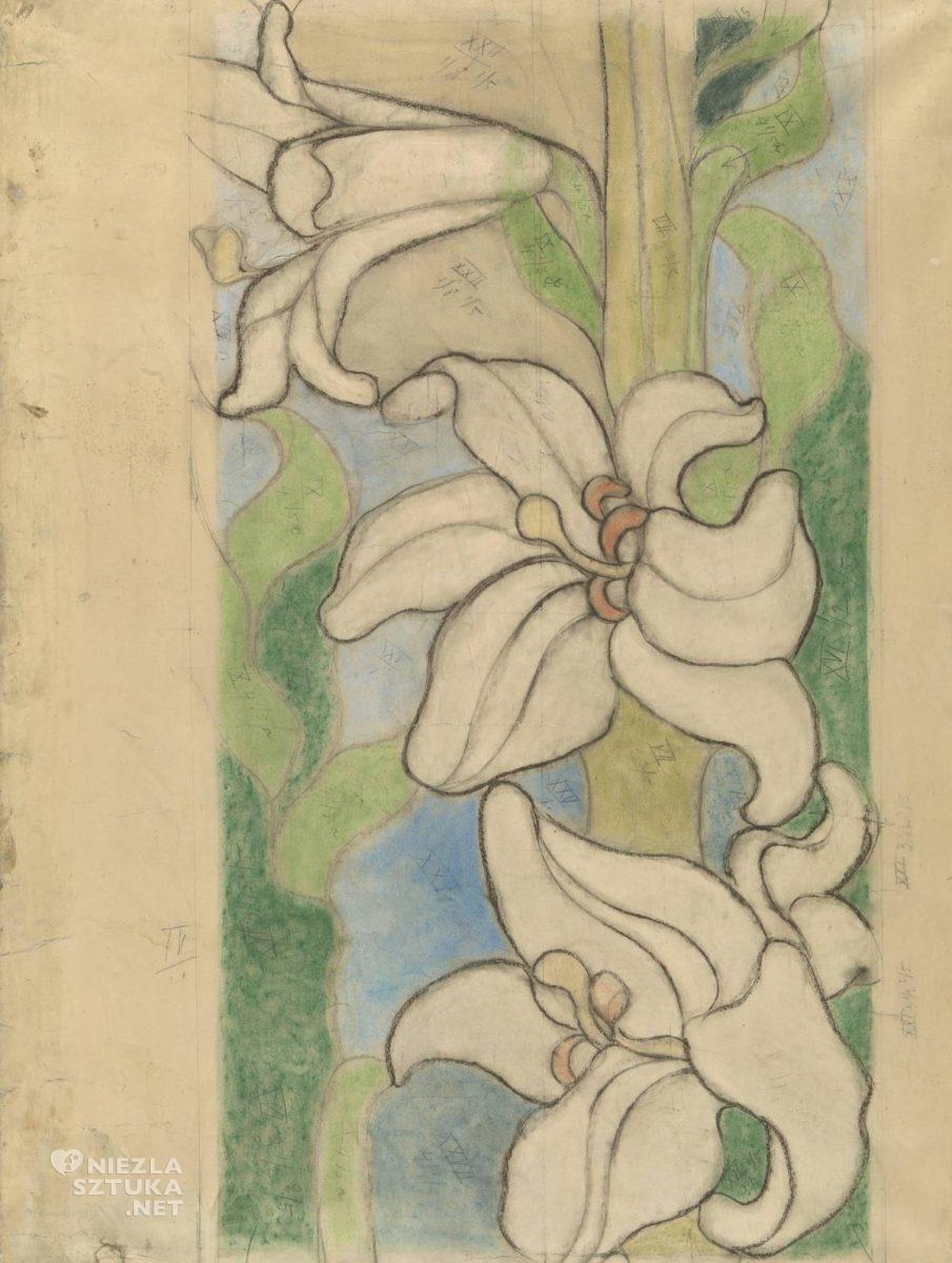 Stanisław Wyspiański, lilie, polichromia, franciszkanie, Kraków, Niezła sztuka