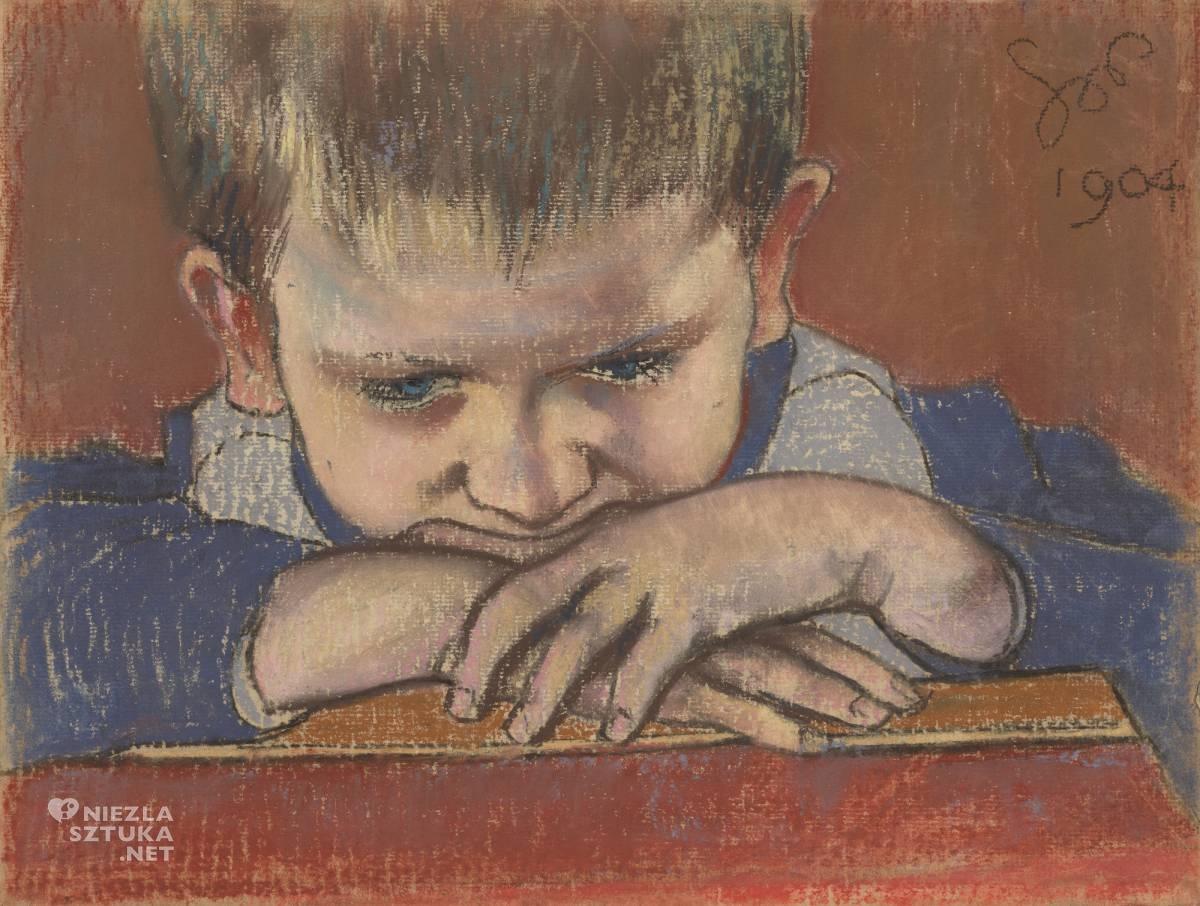 Stanisław Wyspiański, Mietek, Mietek Wyspiański, dziecko w malarstwie, polska sztuka, Kraków, Niezła sztuka