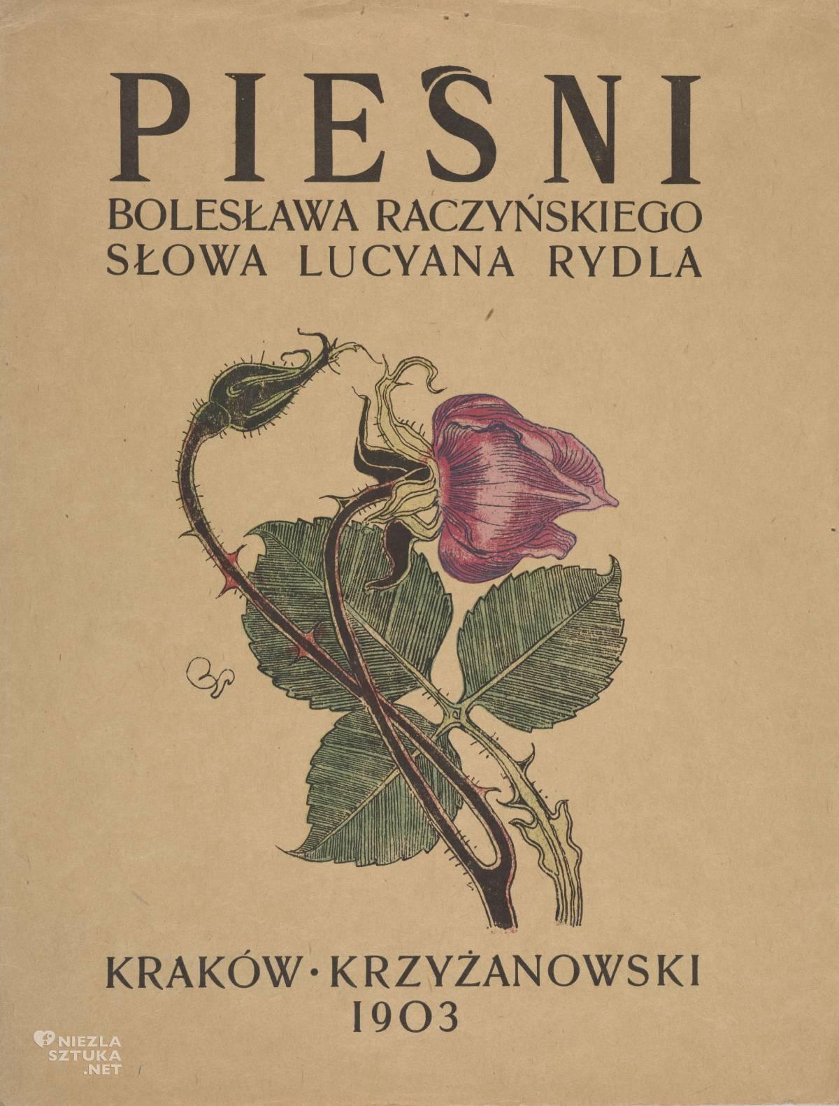 Stanisław Wyspiański,książka, typografia, Pieśni, Niezła sztuka