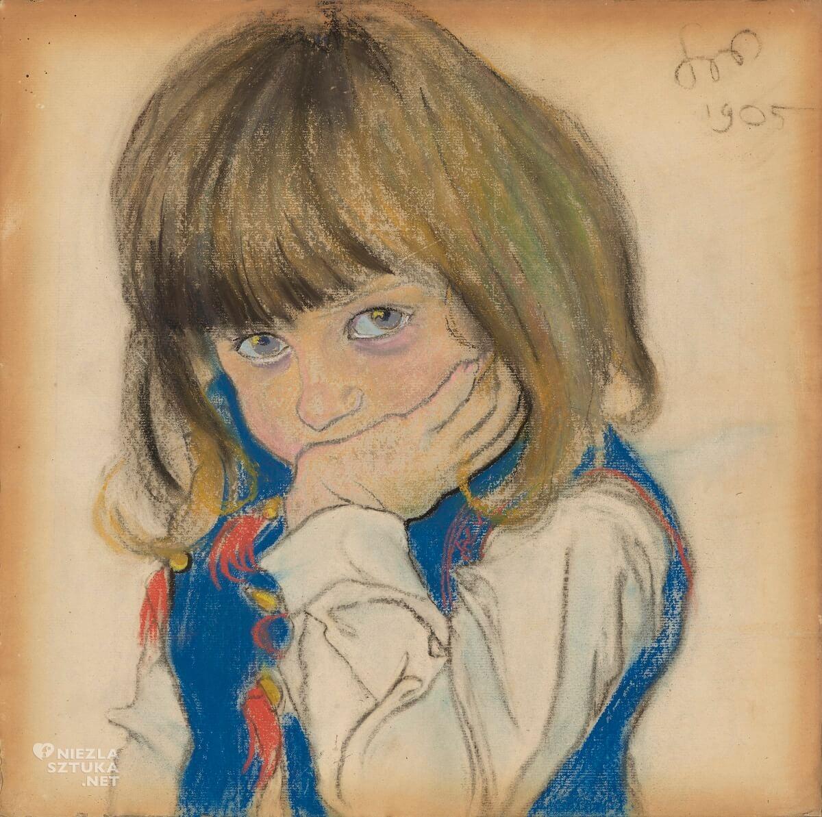 Stanisław Wyspiański,Portret chłopca, Józio Feldman, dziecko w malarstwie, polska sztuka, Niezła sztuka