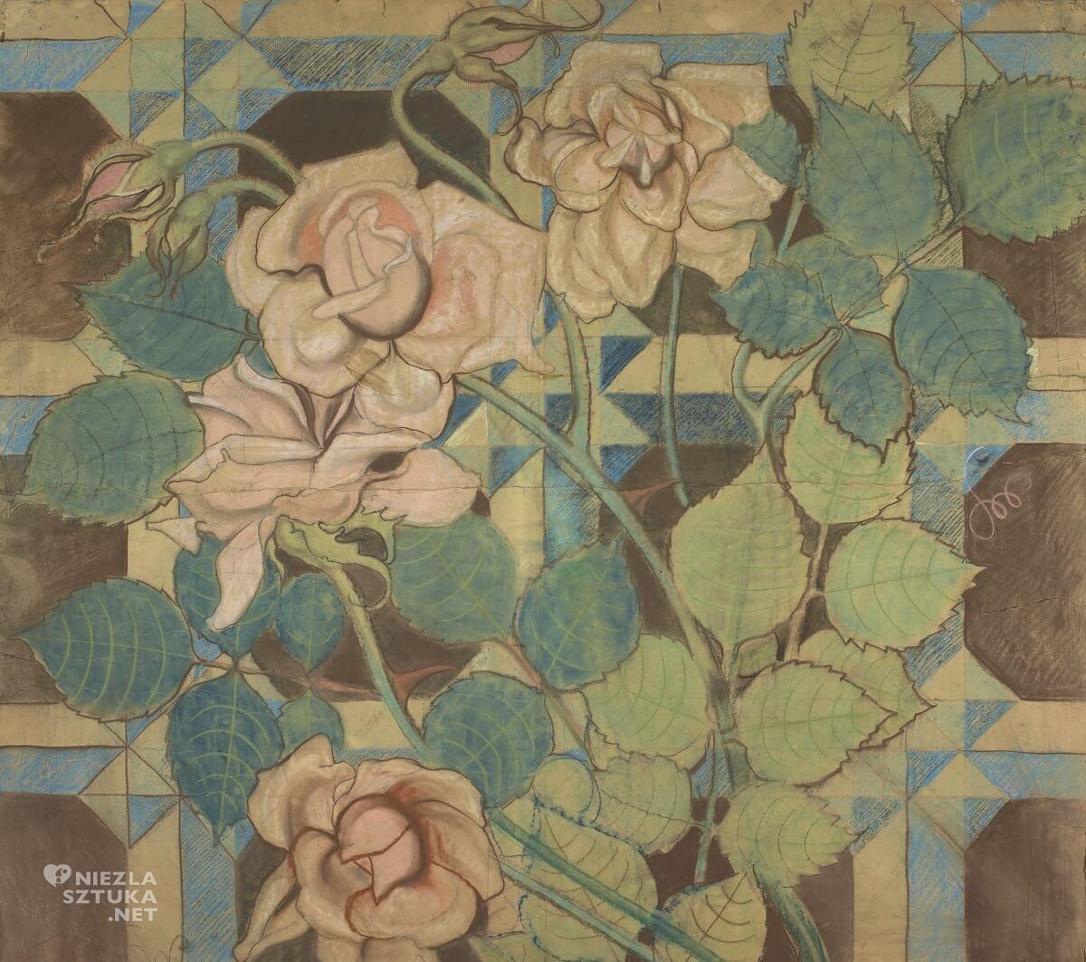 Stanisław Wyspiański, Róże, polichromia, franciszkanie, Kraków, Niezła sztuka