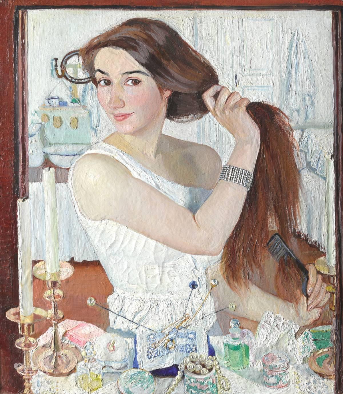 Zinaida Sieriebriakowa, Przy toaletce, autoportret, kobiety w sztuce, Niezła sztuka