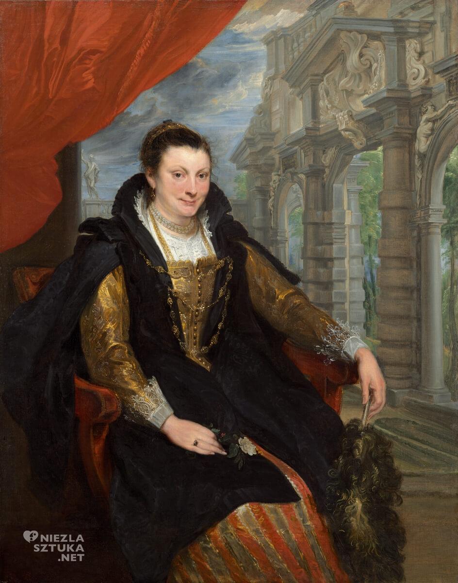 Anton van Dyck, Isabella Brant, żona Rubensa, Peter Paul Rubens, portret, sztuka flamandzka, Niezła sztuka