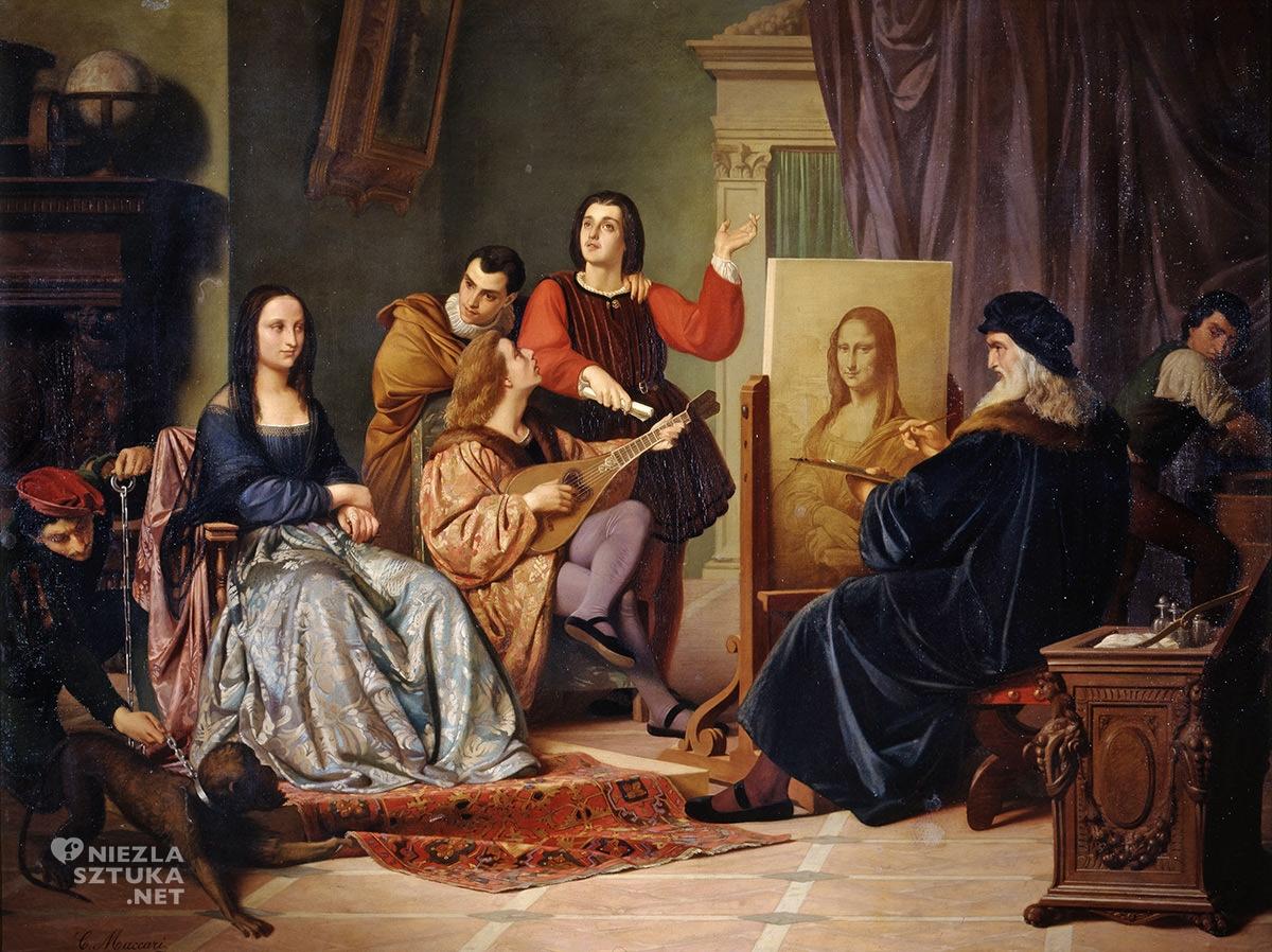 Cesare Maccari, Leonardo da Vinci, Mona Lisa, Mona Liza, Gioconda, Niezła sztuka