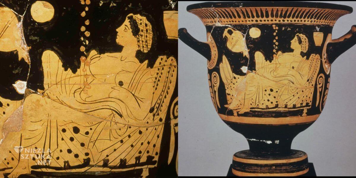 Danae, złoty deszcz, grecja, sztuka starożytna, Luwr, krater, Niezła sztuka