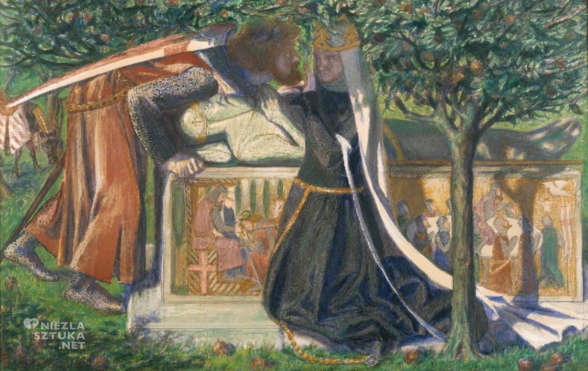 Dante Gabriel Rossetti, Grobowiec króla Artura, prerafaelici, legenda króla Artura, legendy arturiańskie, Niezła sztuka