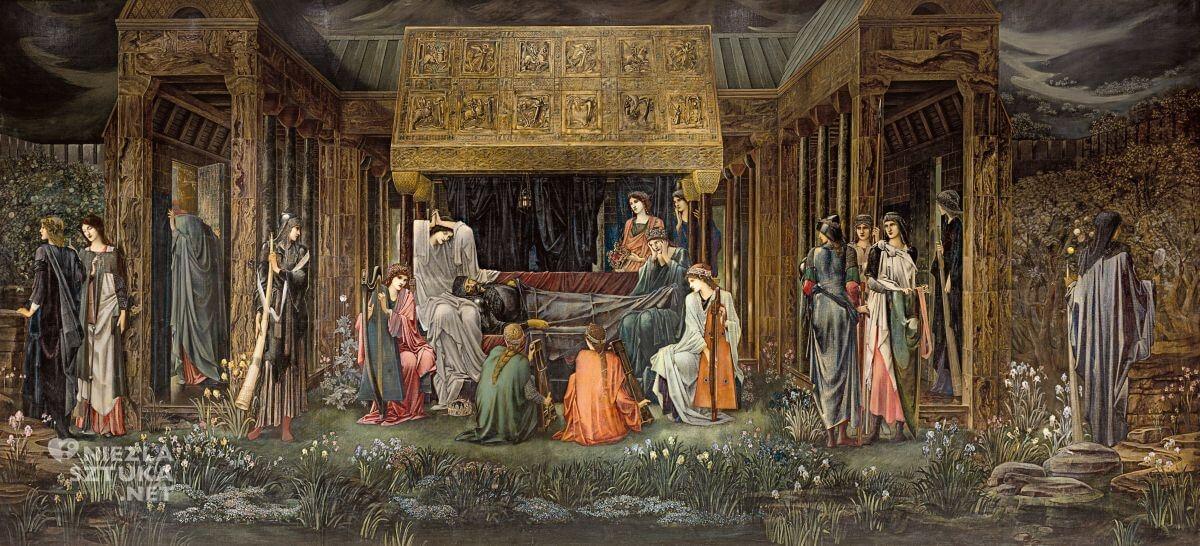 Edward Burne-Jones, Ostatni sen Artura w Avalonie, prerafaelici, legenda króla Artura, legendy arturiańskie, Niezła sztuka