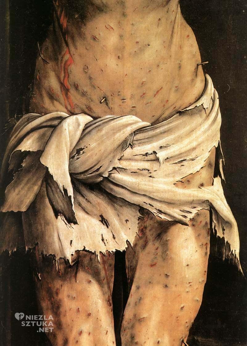 Matthias Grünewald, Ołtarz z Isenheim, Ukrzyżowanie, Niezła sztuka