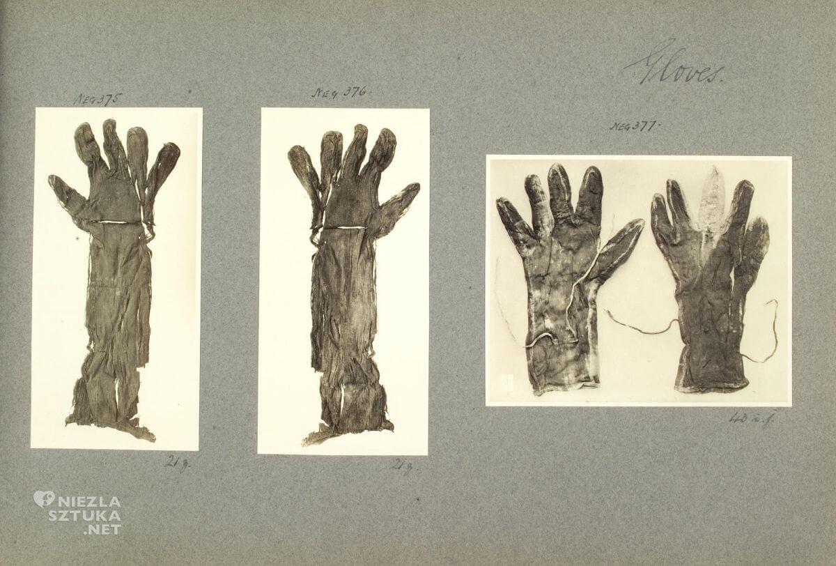 rękawiczki, grobowiec Tutanchamona, harry barton, fotografia, Niezła sztuka