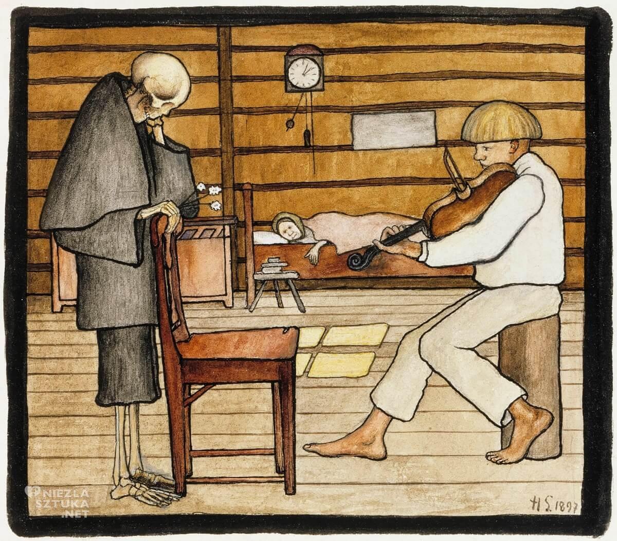 Hugo Simberg, sztuka skandynawska, Szwecja, Finlandia, symbolizm, Niezła Sztuka
