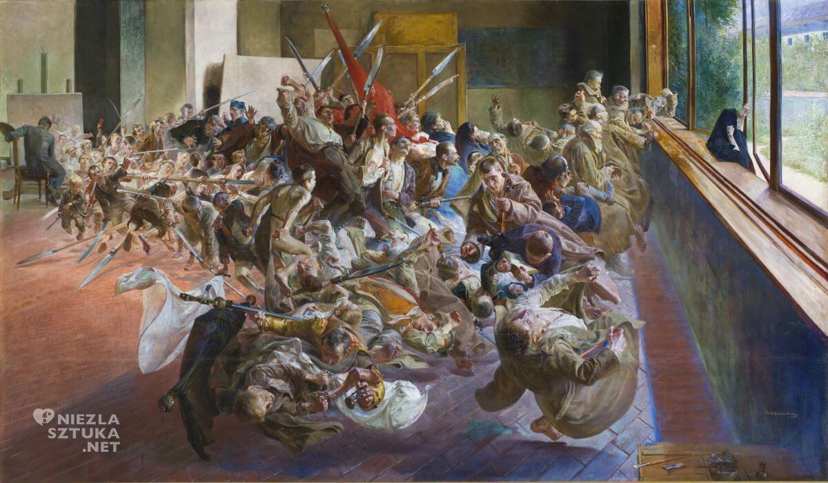 Jacek Malczewski, Melancholia, malarstwo polskie, sztuka polska, symbolizm, patriotyzm, Niezła Sztuka