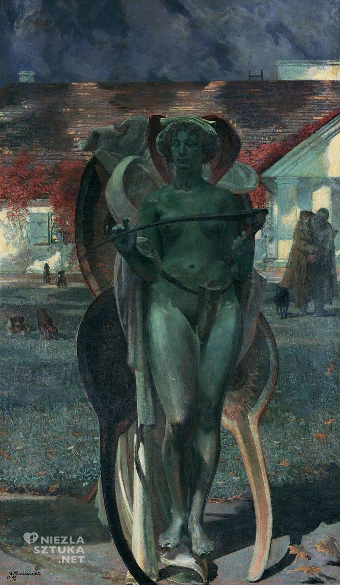 Jacek Malczewski, Thanatos, symbolizm, sztuka polska, malarstwo polska, Niezła sztuka