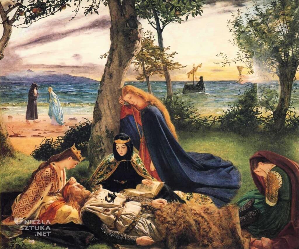 James Archer, Śmierć króla Artura, prerafaelici, legenda króla Artura, legendy arturiańskie, Niezła sztuka