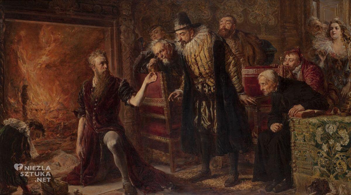 Jan Matejko, Alchemik Sędziwój i król Zygmunt III, sztuka polska, malarstwo polskie, Niezła sztuka