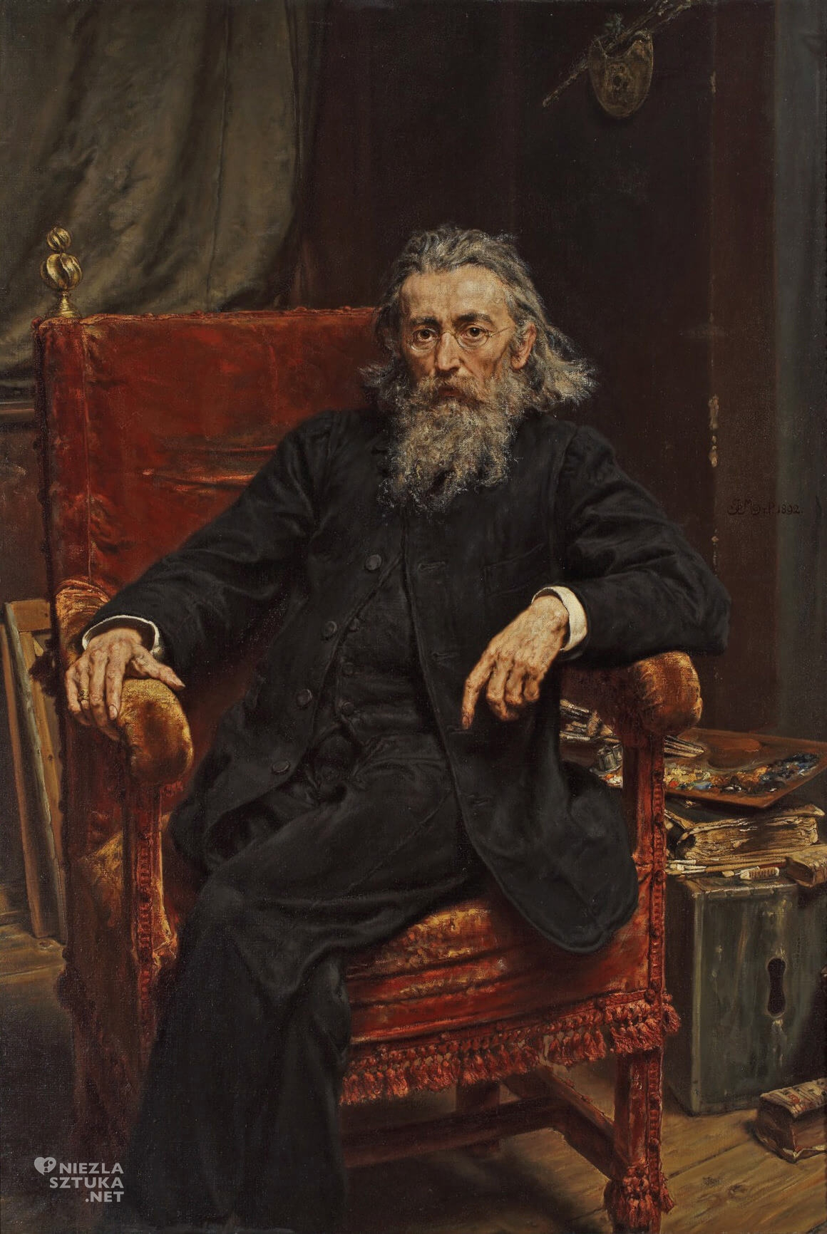 Jan Matejko, Autoportret, malarz polski, sztuka polska, malarstwo polskie, Niezła sztuka