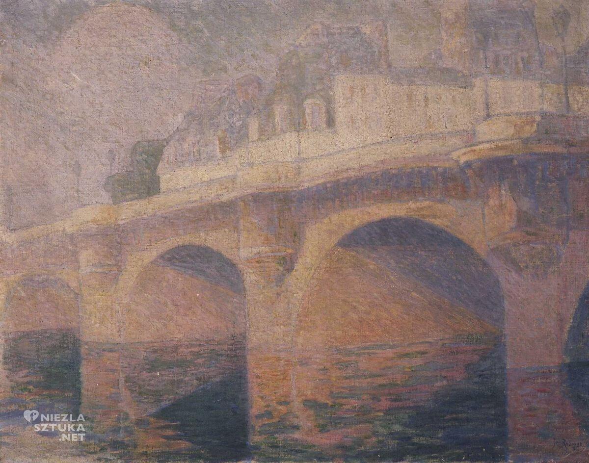 Jan Rubczak, Most nad Sekwaną, pejzaż, sztuka polska, Niezła sztuka