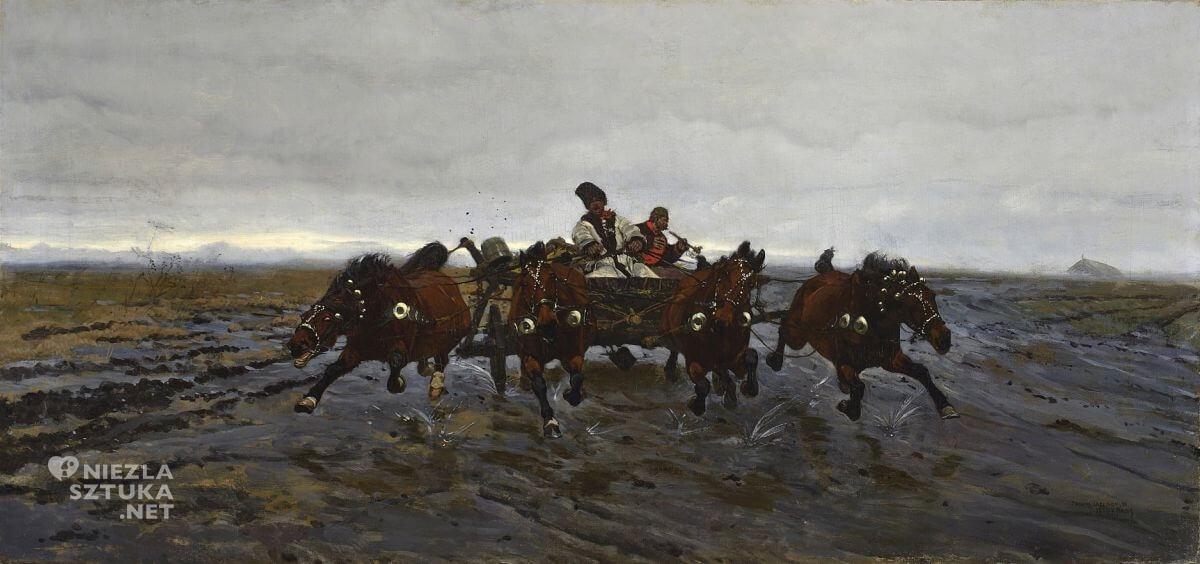 Józef Chełmoński, Czwórka, sztuka polska, malarstwo polskie, Muzeum Narodowe w Warszawie, Niezła sztuka