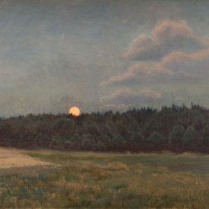 Józef Chełmoński, Wschód księżyca, sztuka polska, malarstwo polskie, Niezła sztuka