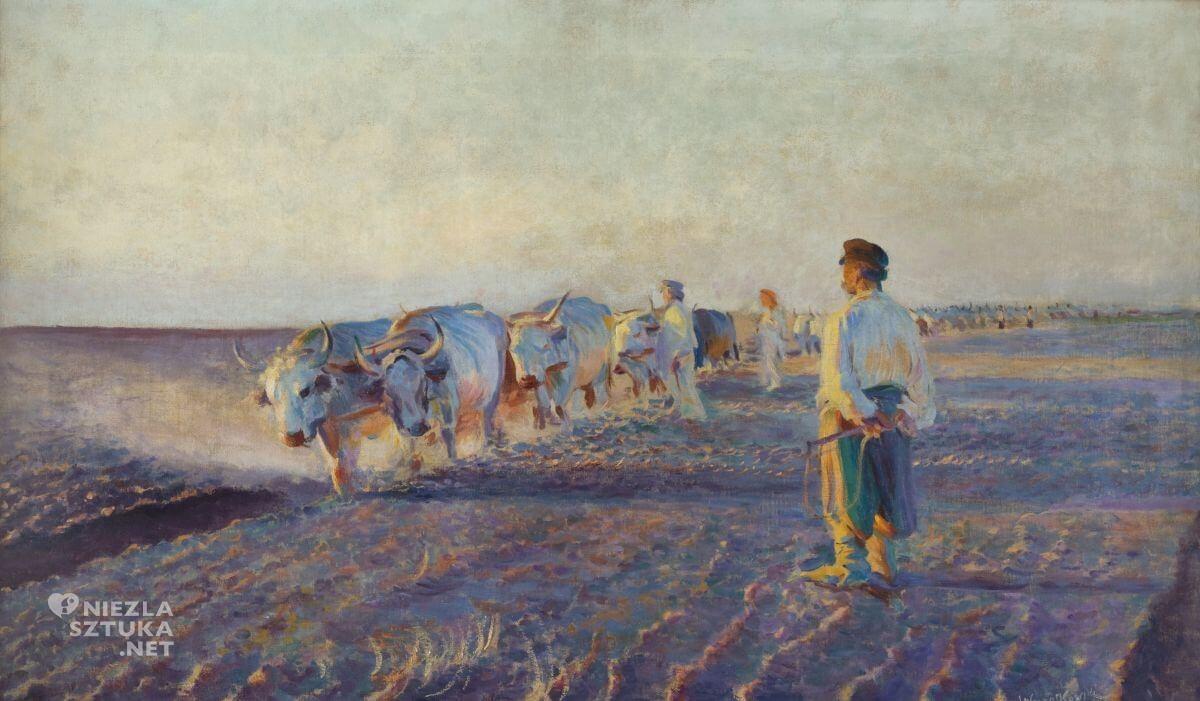 Leon Wyczółkowski, Orka na Ukrainie, pejzaż, malarstwo polskie, sztuka polska, Niezła sztuka