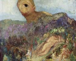 Odilon Redon, Cyklopi, malarstwo europejskie, symbolizm, Niezła Sztuka