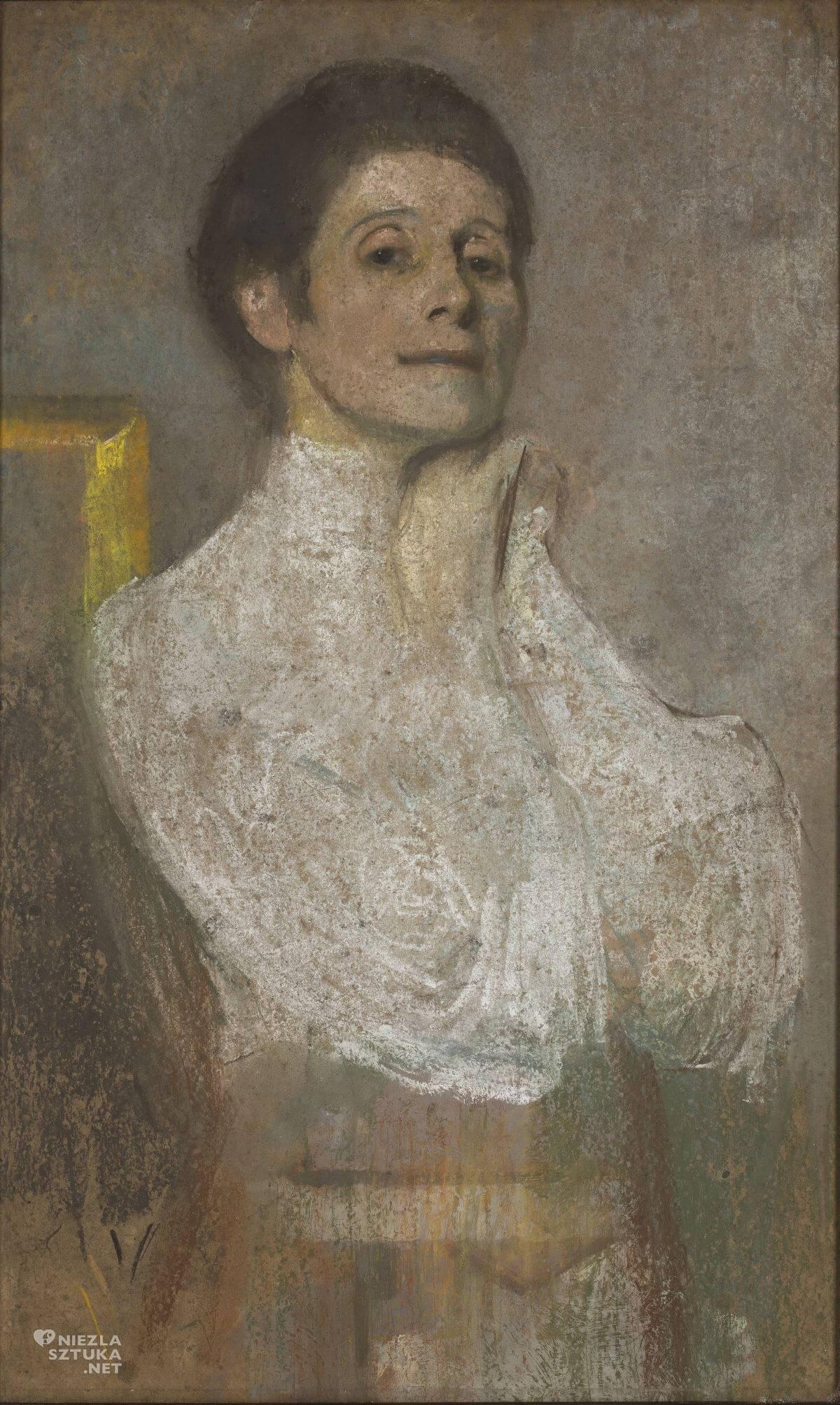 Olga Boznańska, Autoportret, Muzeum Narodowe w Warszawie, sztuka polska, malarstwo polskie, Niezła sztuka