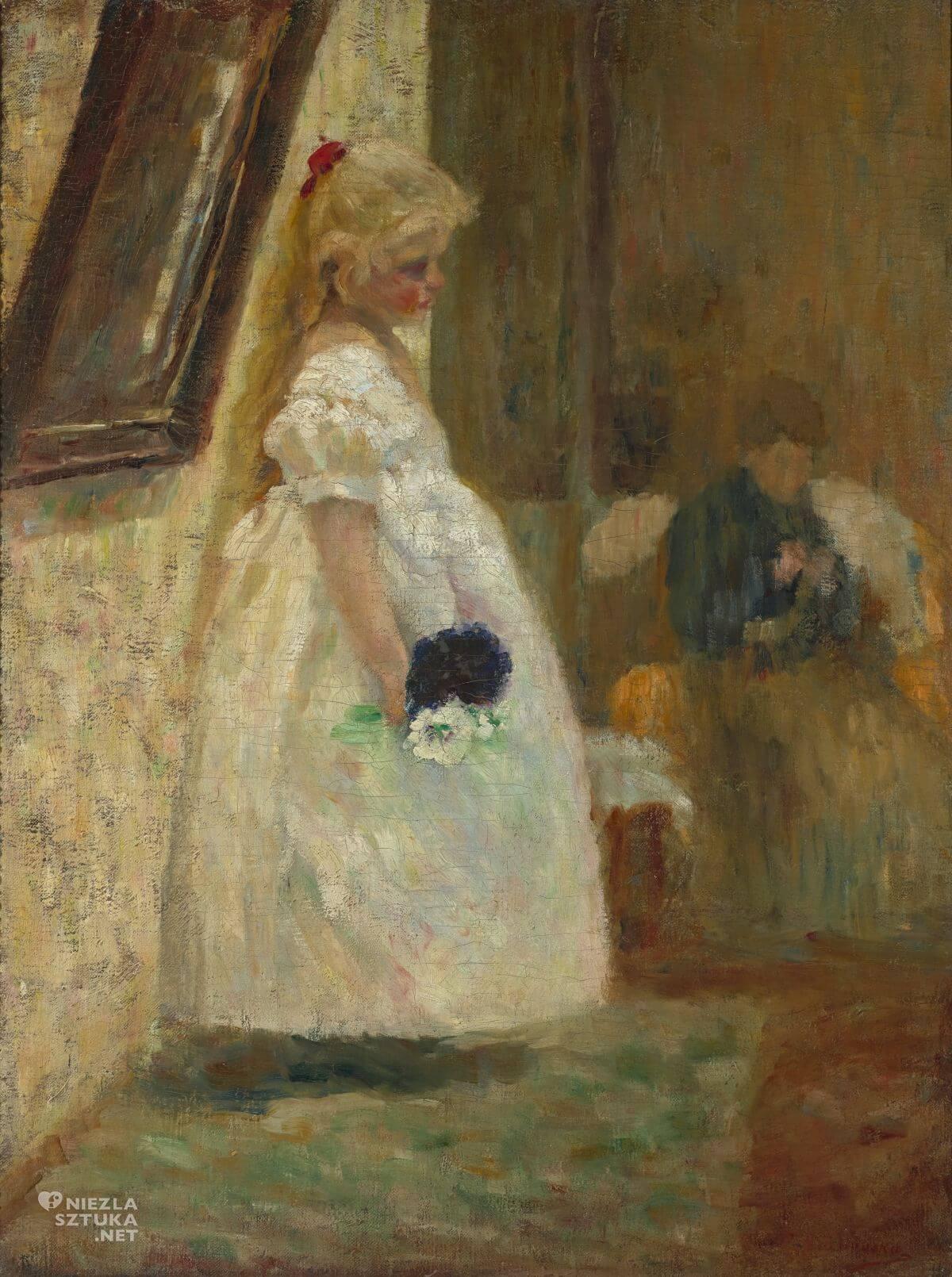 Olga Boznańska, Imieniny babuni, dziecko w sztuce, sztuka polska, malarstwo polskie, Niezła sztuka