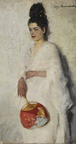 Olga Boznańska, Japonka, sztuka polska, polskie muzea, malarstwo polskie, Muzeum Narodowe w Warszawie, Niezła sztuka