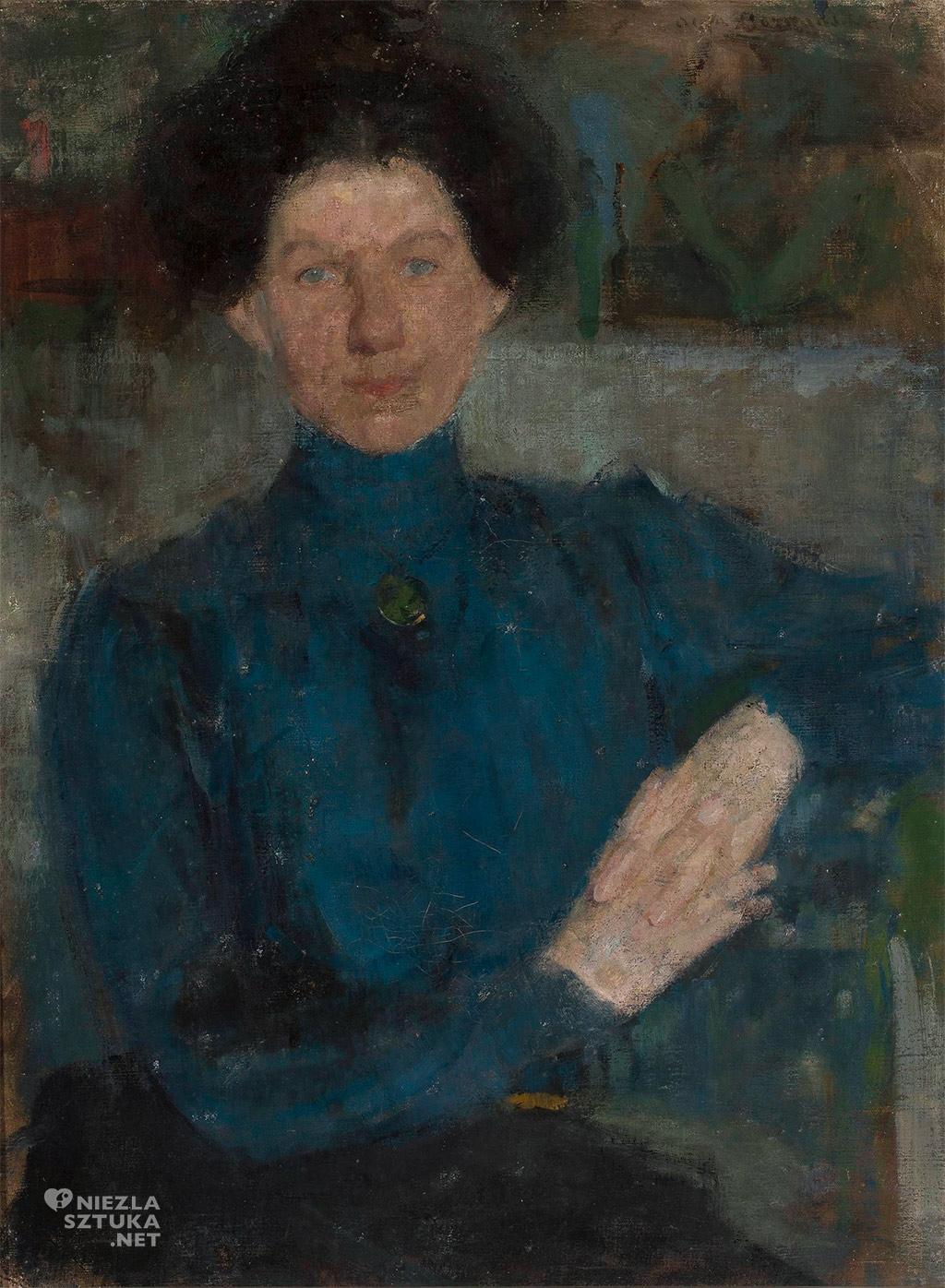 Olga Boznańska, Portret Marii Koźniewskiej-Kalinowskiej, malarka, sztuka polska, malarstwo polskie, Niezła sztuka