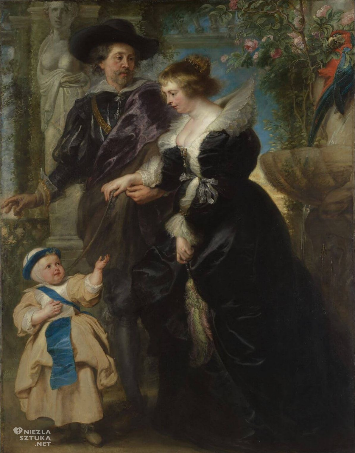 Peter Paul Rubens, Autoportret z Heleną Fourment i synem Fransem, sztuka flamandzka, malarstwo flamandzkie, Niezła sztuka