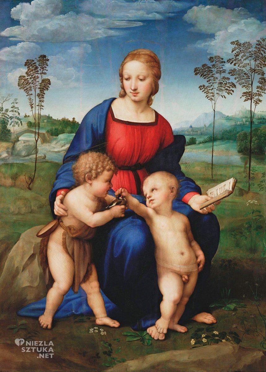 Rafael Santi, Madonna ze szczygłem, malarstwo religijne, sztuka włoska, renesans, Niezła Sztuka