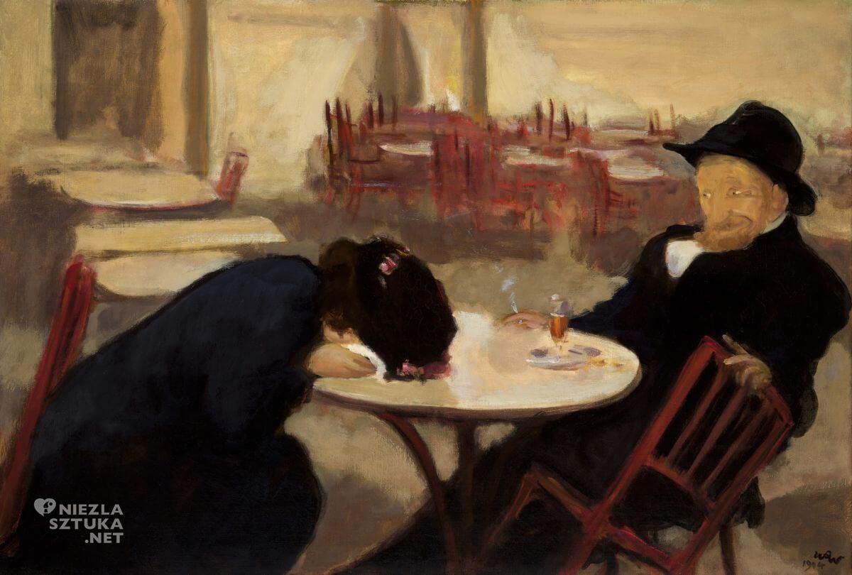Wojciech Weiss, Demon, W kawiarni, malarstwo polskie, sztuka polska, Niezła sztuka