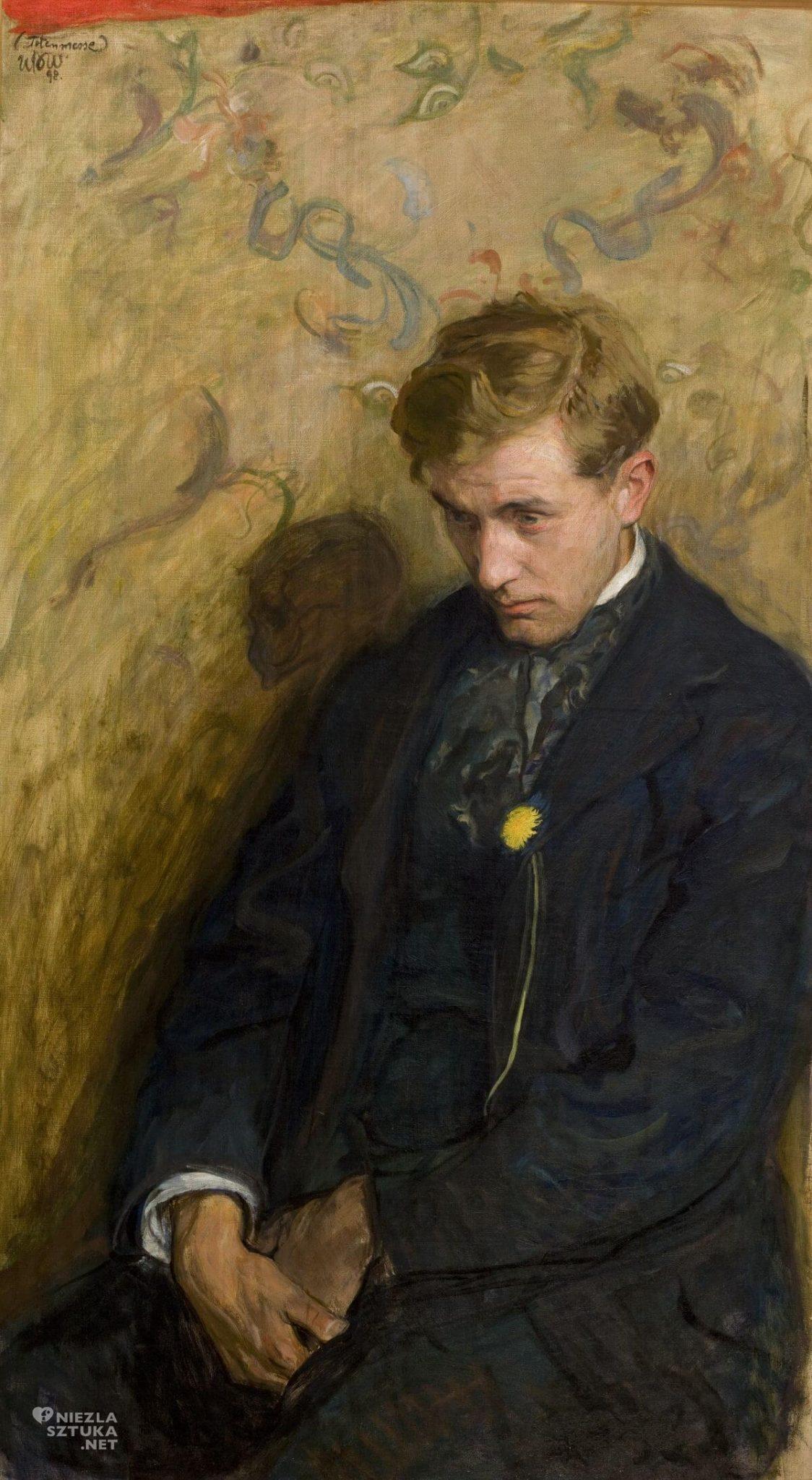 Wojciech Weiss, Melancholik, Portret Antoniego Procajłowicza, Totenmesse, sztuka polska, malarstwo polskie, Niezła sztuka
