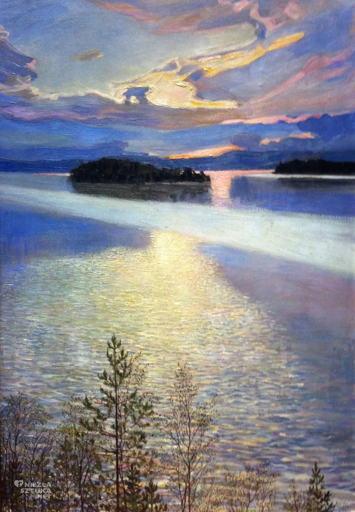 Akseli Gallen-Kallela, Widok jeziora, sztuka fińska, sztuka europejska, malarstwo, Niezła Sztuka