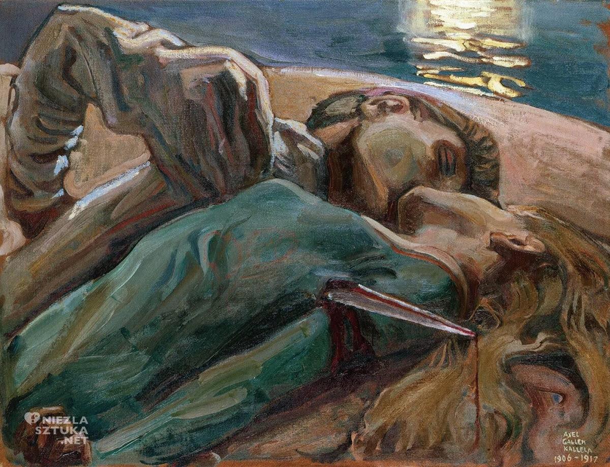 Akseli Gallen Kallela, kochankowie, sztuka europejska, sztuka fińska, malarstwo, Niezła Sztuka
