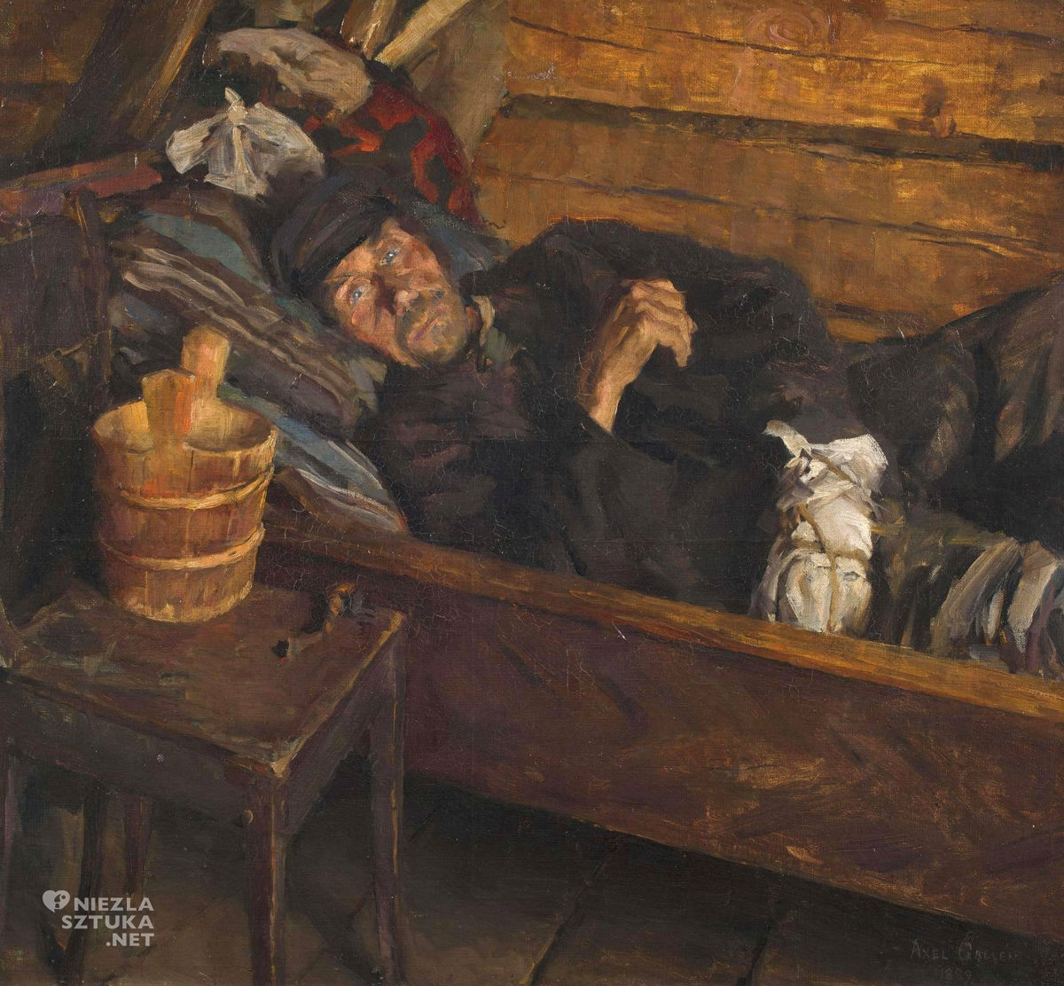 Askeli Gallen Kallela, Gorączka pourazowa, sztuka europejska, sztuka fińska, malarstwo, Niezła Sztuka