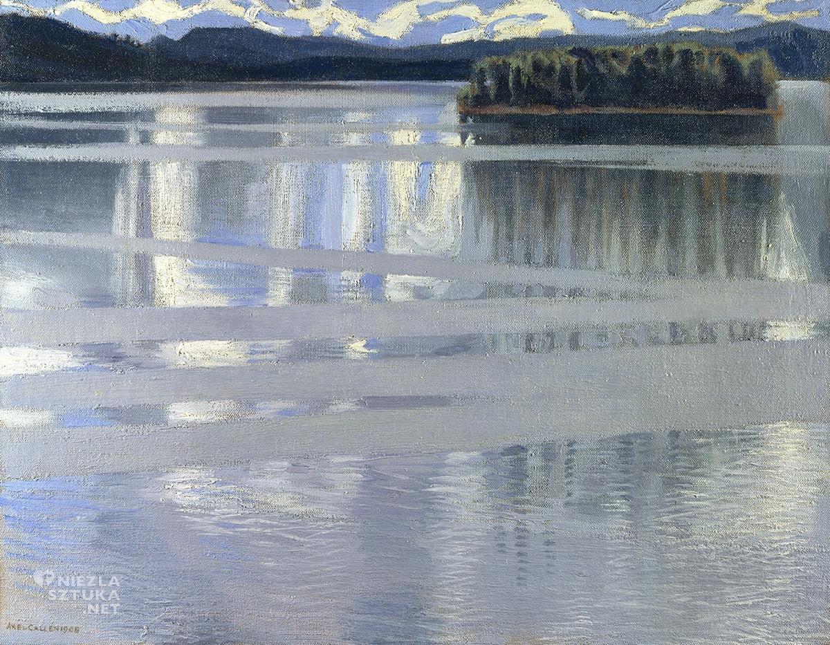 Akseli Gallen-Kallela, Jezioro Keitele, sztuka fińska, sztuka europejska, malarstwo, Niezła Sztuka