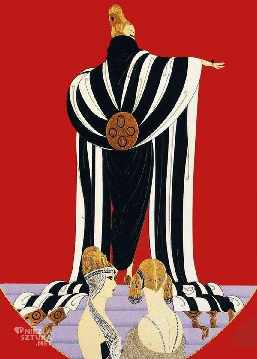 Erté, Monako, Romain de Tirtoff, moda, grafika, ilustracja, Niezła Sztuka
