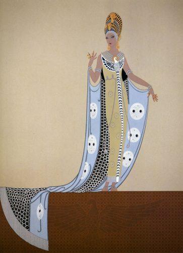 Erte, Izyda, Romain de Tirtoff, moda, grafika, ilustracja, Niezła Sztuka