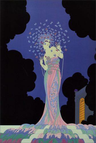 Erte, Fantazja, Romain de Tirtoff, moda, grafika, ilustracja, Niezła Sztuka