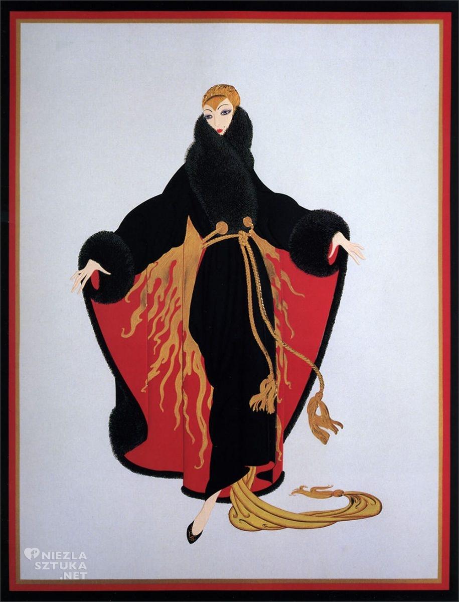 Erte, Fauburg St. Honore, Romain de Tirtoff, moda, grafika, ilustracja, Niezła Sztuka