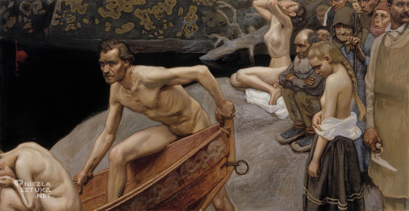 Askeli Gallen-Kallela, Przy rzece Tuoneli, sztuka europejska, sztuka fińska, malarstwo, Niezła Sztuka