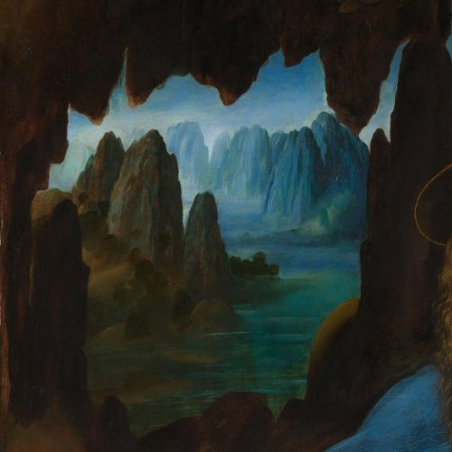 Leonardo da Vinci, National Gallery Londyn, Madonna wśród skał, Madonna w grocie, sztuka włoska, malarstwo włoskie, Niezła sztuka