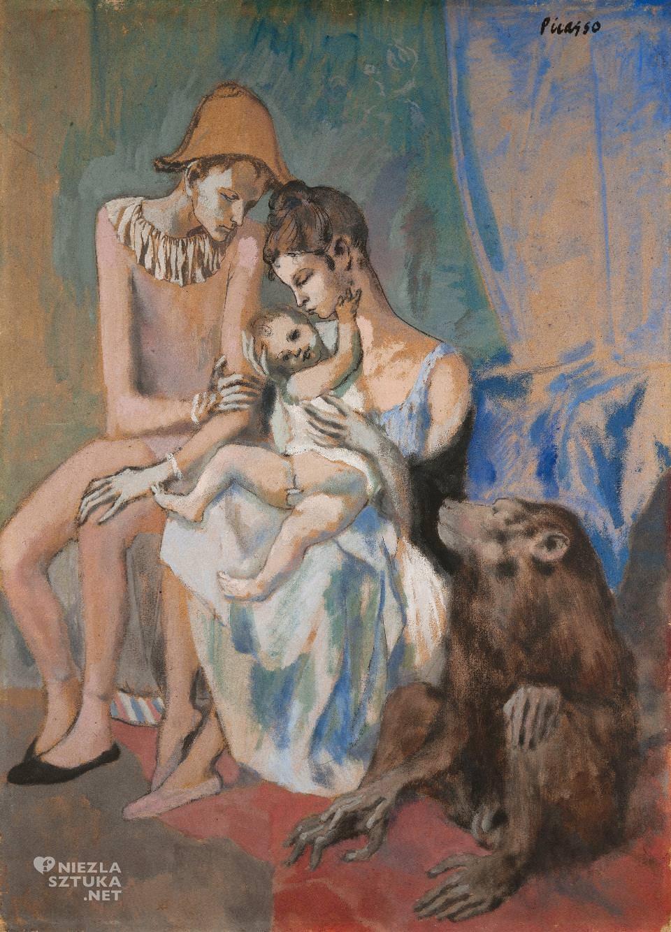 Pablo Picasso, Rodzina akrobatów z małpą, Niezła sztuka